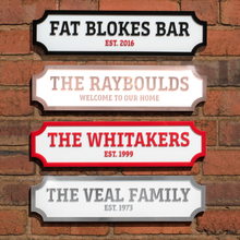 Load image into Gallery viewer, Personalised 3D Street Sign Acrylic