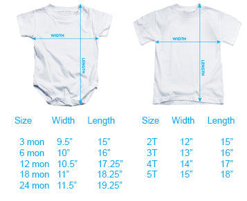 Baby One Piece Size Chart