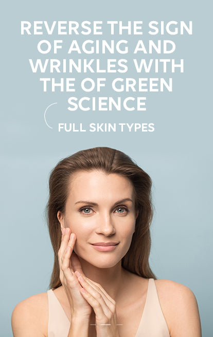 Reverse the sign of aging and wrinkles with the  of green science