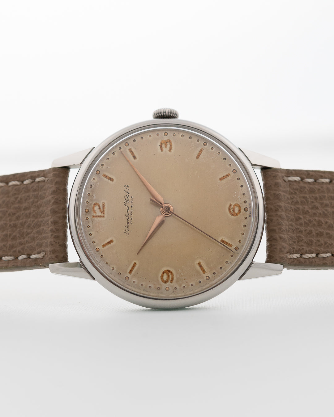 Iwc Dress Light Brown 1953 - Goldammer Vintage Watches
