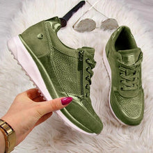 Load image into Gallery viewer, NEW Women's Wedges Sneakers Vulcanize Shoes Sequins Shake Shoes Fashion Girls Sport Shoes Woman Sneakers Shoes Woman Footwear