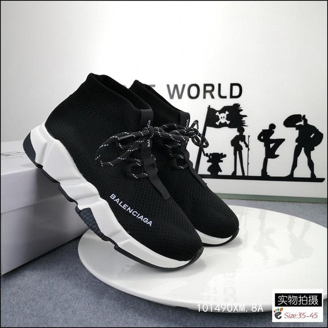 2020 New Balenciaga- Best Quality Speed Trainer Sneakers Men Women Black Red Casual Shoes Fashion mens womens sports Sneakers 01