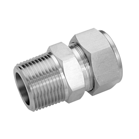 "Stainless Steel Compression 1/2""x 1/2"" NPT"