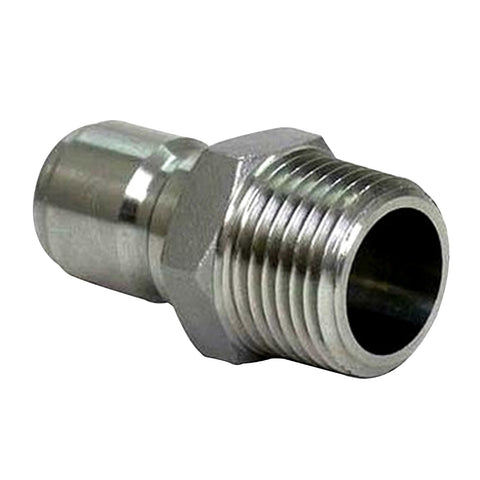 "Stainless Steel Male Quick Disconnect x 1/2"" NPT"