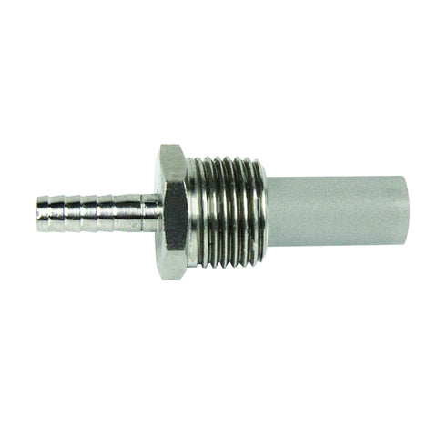 "Inline Diffusion Stone 1/2"" MPT with 3/8"" Barb"