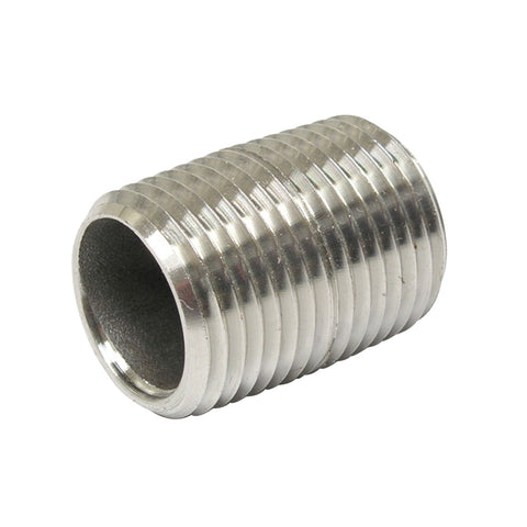 "Stainless Steel Nipple 1/2"" x 1"""
