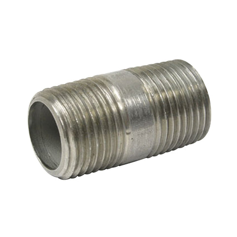 "Stainless Steel Nipple 1/2"" x 1.5"""