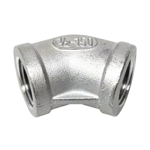 Stainless Steel 45 Degree Elbow 1/2'' FPT x 1/2'' FPT