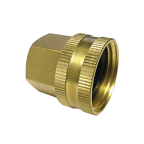 "Brass Garden Hose Fitting 3/4"" Female GH X 1/2"" Female NPT"