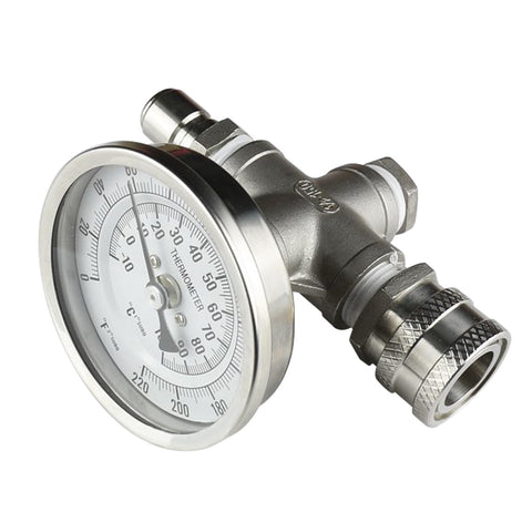 Inline Thermometer W/Stainless Quick Disconnects