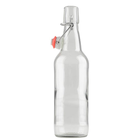 Kombucha Clear Bottle API 500 ML W / Swing Top (12 / Caisse)