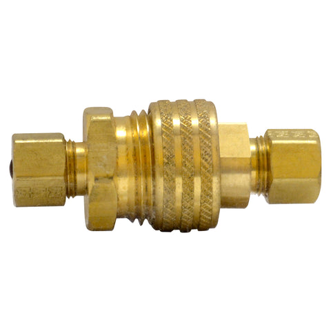 "Brass Compression Kit For Chiller 3/8"" Tube"