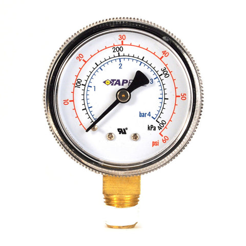 Taprite Low Pressure 60 PSI Gauge (RHT)