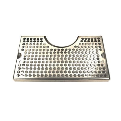 "Drip Tray Without Drain 12"" SS Cut Out Surface Mount"