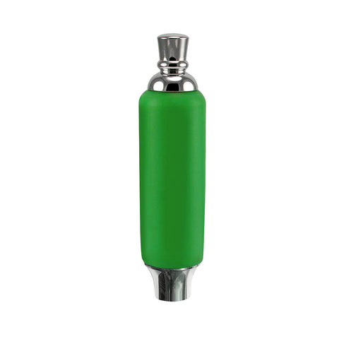 "Green Plastic Tap Handle 5"" W / Chrome Plated Ferrule"