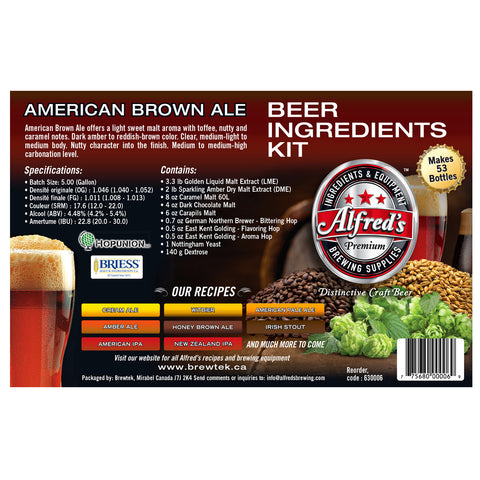 Alfred's Honey Brown Ale Recipe Kit