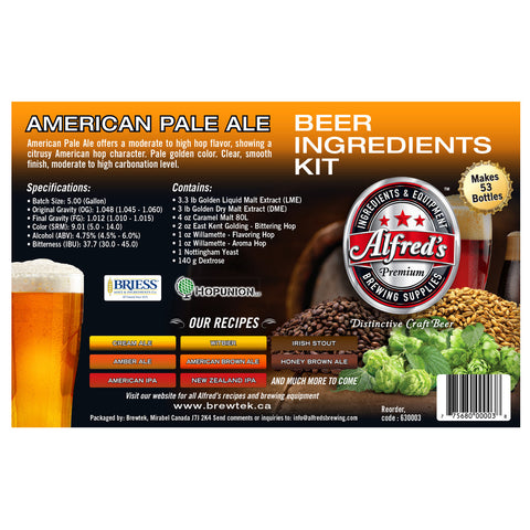 Alfred's American Pale Ale Recipe Kit