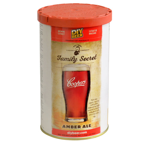 Coopers Thomas Selection Family Secret Amber Ale Beer Can