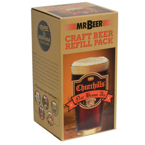 MR. BEER CHURCHILLS NUT BROWN ALE REFILL