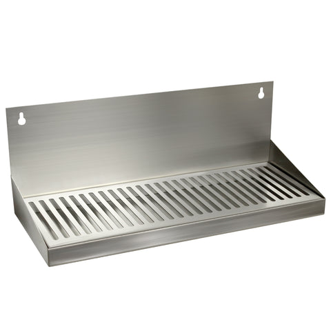 "Drip Tray Without Drain 6""x 16"" SS Wall Mount"