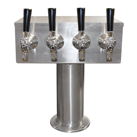 T Tower Stainless Steel 4 Faucets