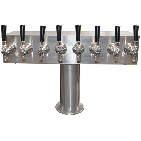 T Tower Stainless Steel 8 Faucets