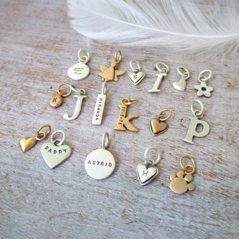 Collectable Gold and Silver Personalized Charms