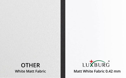 Matt White Fabric