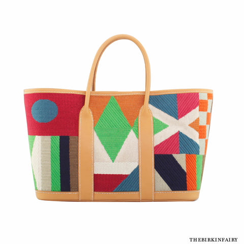 "Hermes ""Limited Addition Craftsman"" Garden Party Tote - Rare!"