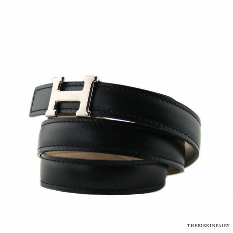 Mini Hermes 5382 H Reversible Belt Palladium Hardware