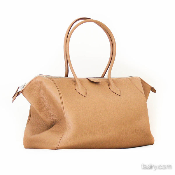 4d303d8999a3 Hermes Paris Bombay 37cm in Tabac Camel - Clemence – The Birkin Fairy
