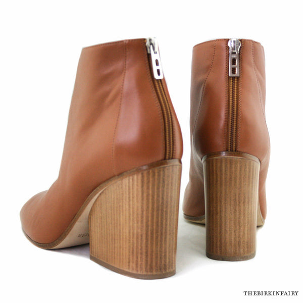ce3fb126ca4d Hermes Tan Ankle Boot with Wooden High Heel Wedge Size 41 – The ...