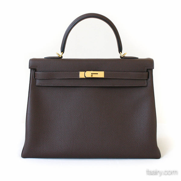 2e9001290c uk hermes leather sellier kelly bag 3 d8989 247cb  discount code for hermes  cacao 35cm kelly handbag in togo gold hardware 2013 11285 bc885
