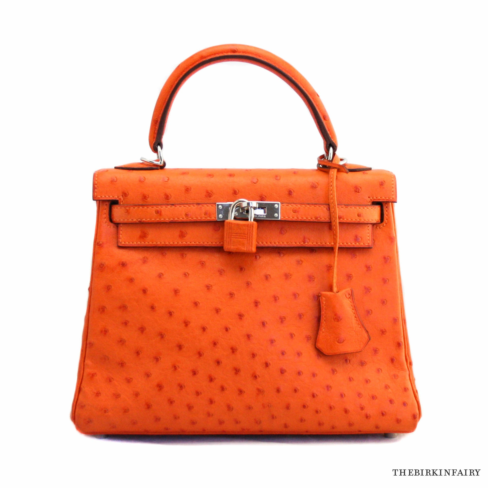 0383c13bf79d ... inexpensive hermes 25cm retroune orange ostrich kelly bag w palladium  hardware rare dd62a 95b74