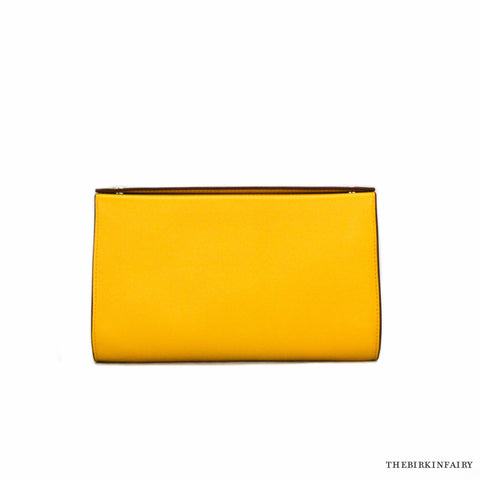 Hermes Yellow Karo PM Leather Snap Pouch