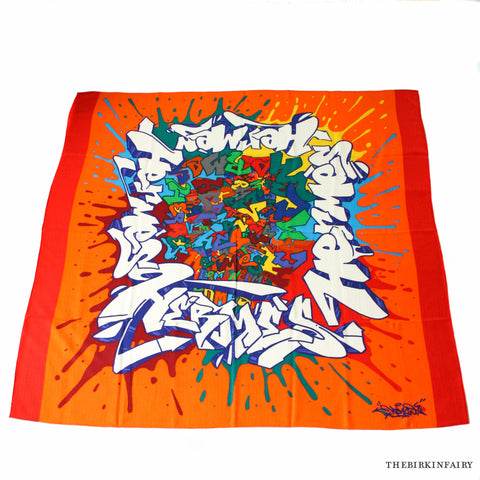 Hermes Graff Cashmere/Silk Shawl in Orange Red Color 06 NEW!