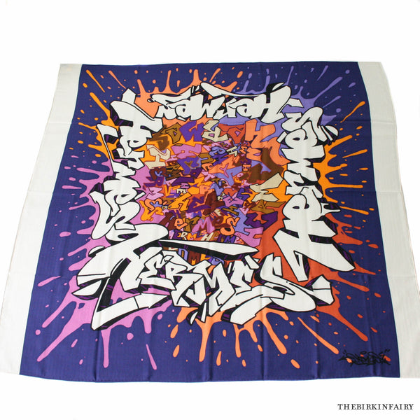 Hermes Graff Cashmere/Silk Shawl in White Color 08 NEW!