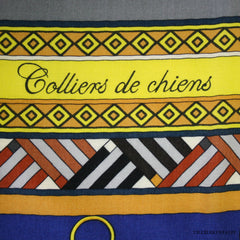 Hermes Colliers Chien Cashmere/Silk GM Shawl NEW!