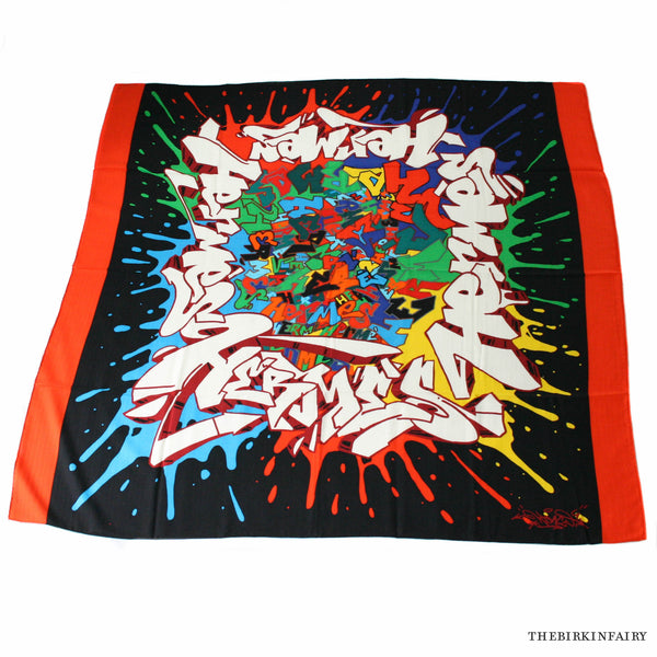 Hermes Graff Cashmere/Silk Shawl in Black Color 05 NEW!