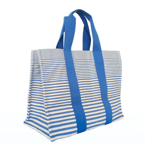 Hermes Beach Canvas Striped Tote