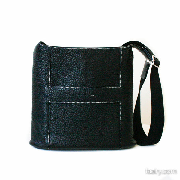 Hermes Black Togo Goodnews Handbag