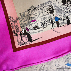 Hermes Ombre des Boulevards in Bougainvillier 90cm Silk Scarf NEW!