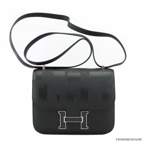 "Hermes Black ""On A Summers Night"" Nigel Peake Mini Constance 18cm NIB!"