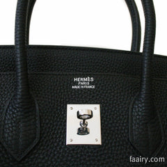 AMAZING! Hermes Black Togo Birkin 35cm w/ Palladium Hardware - NEW!