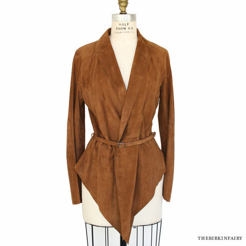 Hermes Luxurious Unlined Suede Jacket Size 40 New!