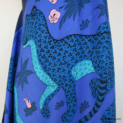 Hermes Petite H Womens Blue Les Leopards Dress/In the Pocket