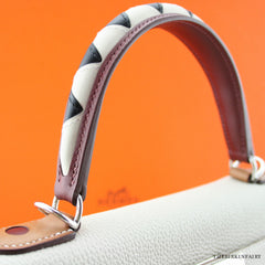 Hermes 28cm Craie Au Galop Kelly Bag w/ Palladium Hardware BNIB Limited Edition!