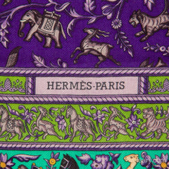 Hermes Chasse en Inde 90cm Cashmere and Silk Scarf