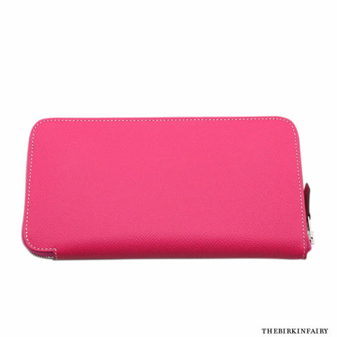 Hermes Rose Tyrien Azap Long Wallet NEW!