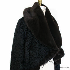 Hermes Black Mink and Astrakhan Fur Jacket Size 40